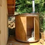 sauna au bois